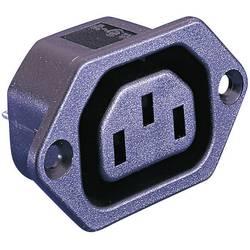 IEC-kontakt PX Series (Nätanslutning) PX Hona inbyggd vertikal Antal poler: 2 + PE 10 A Svart Bulgin PX0675/28 1 st