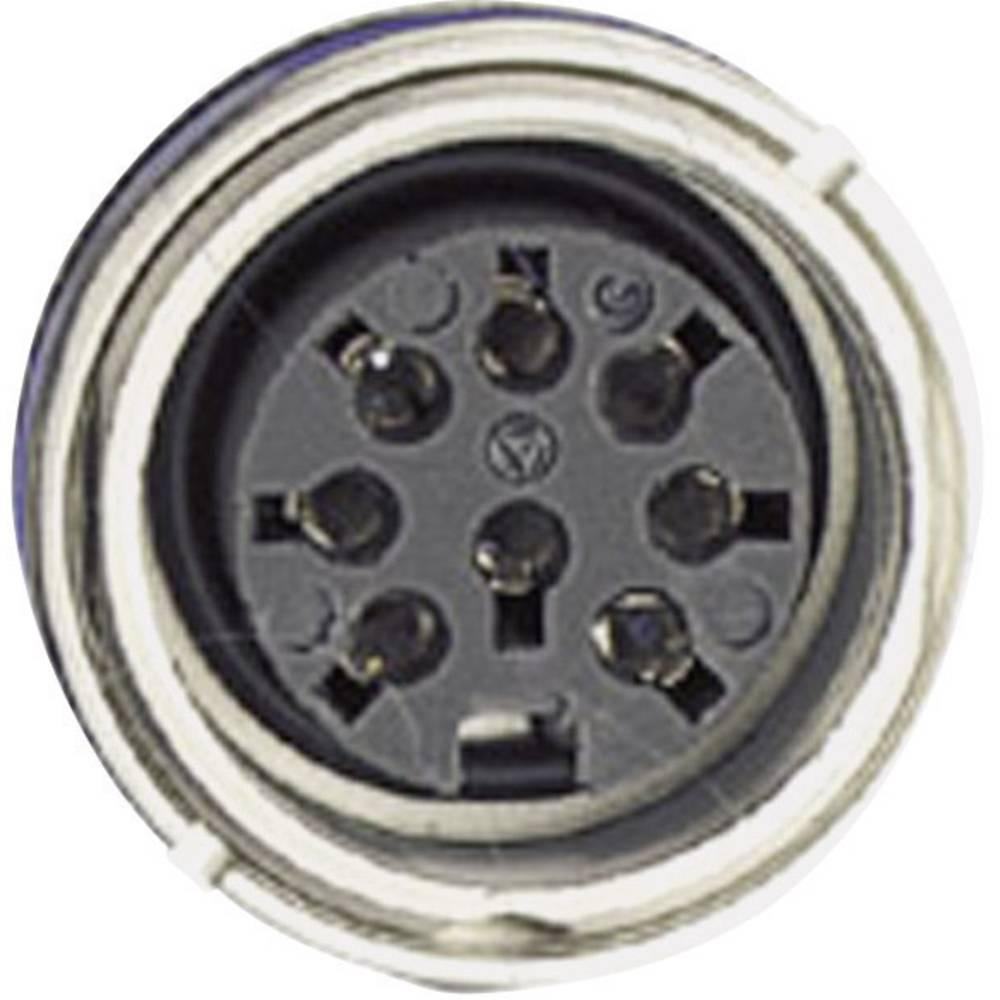 Okrogli konektor Amphenol serije C091/D, C091 31N003 100 2,nazivni tok: 5 A, poli: 3 DIN