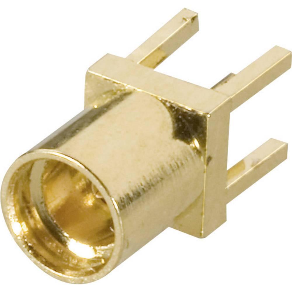 MMCX ženski konektor AmphenolMMCX6251N1-3GT30G-50, raven, pozl. medenina, za tisk. vezje