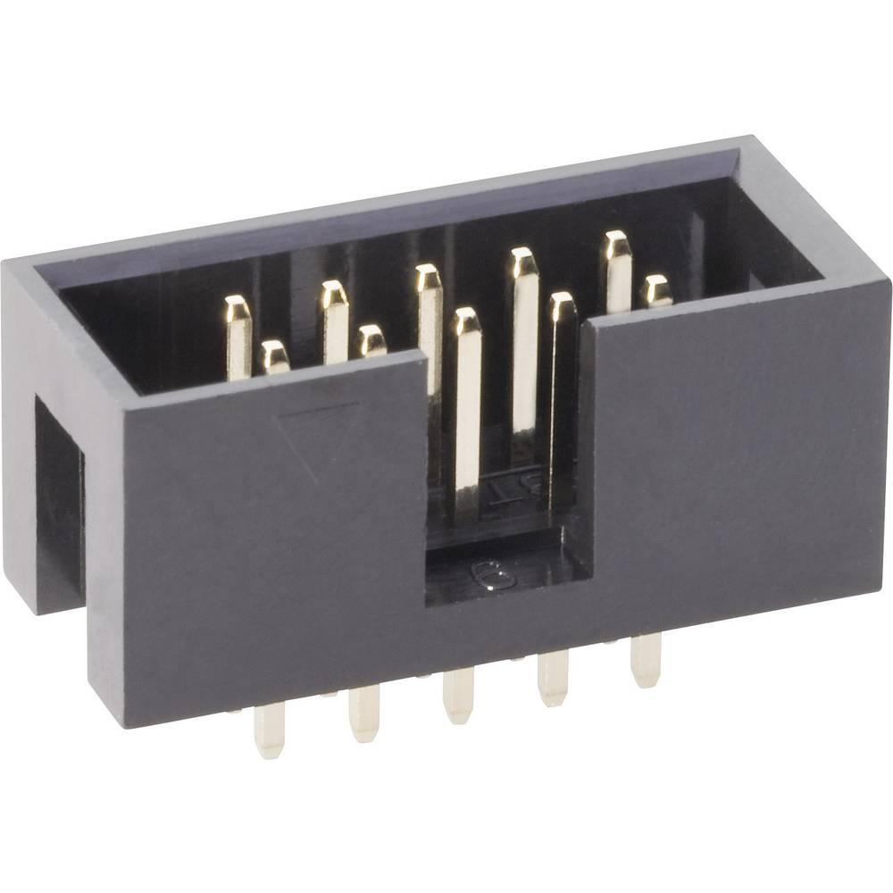 Stiftliste uden udløsergreb Rastermål: 2.54 mm Samlet antal poler: 50 BKL Electronic 1 stk