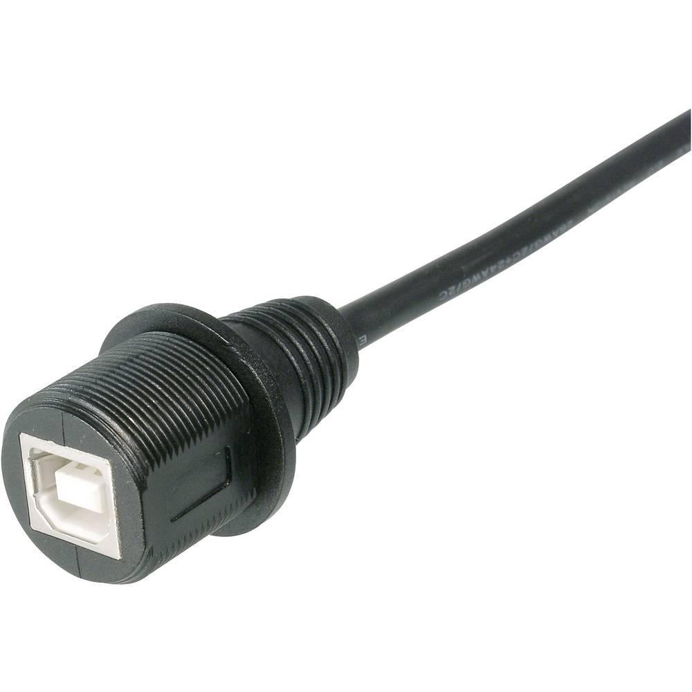 USB B-VTIČNICA S 1000 MM KABLOM IP 67 Assmann A-KAB-USBB-FS-1M Assmann WSW