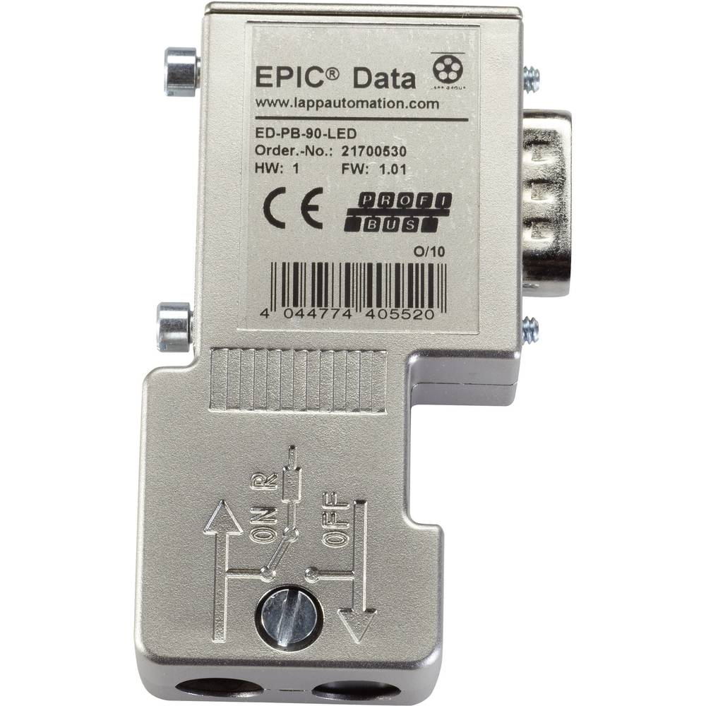 EPIC® Data PROFIBUS konektor EPIC® ED-PB-90-LED-S LappKabel vsebina: 1 kos