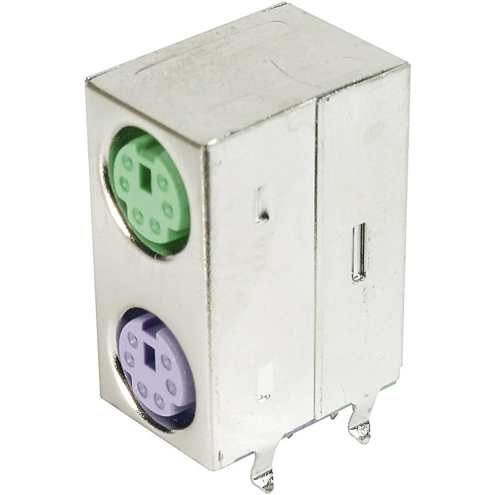 Mini-DIN-sokkel dual-port, skærmet ASSMANN WSW A-DIO-DP/06 GV Poltal: 6 1 stk