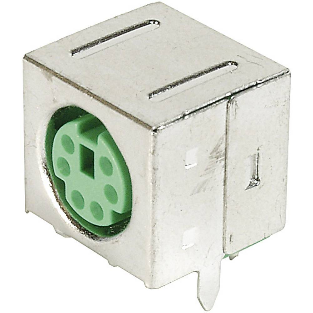 Mini-DIN-indbygningsbøsning, skærmet ASSMANN WSW A-DIO-FS06/GREEN Poltal: 6 1 stk