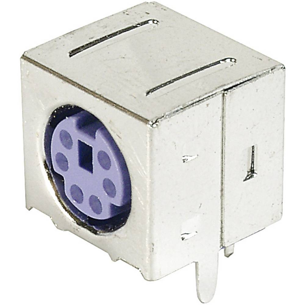 Mini DIN vgradna vtičnica A-DIO-FS06/PURPLE Assmann WSW