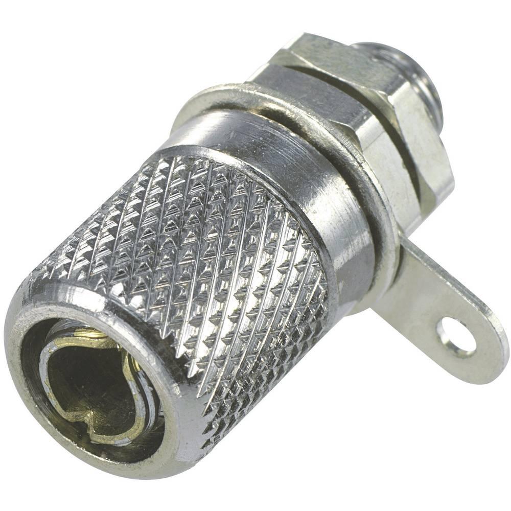 Miniaturelaboratorie-tilslutning Tilslutning, indbygning lodret SCI R1-05 4 mm Sølv 1 stk