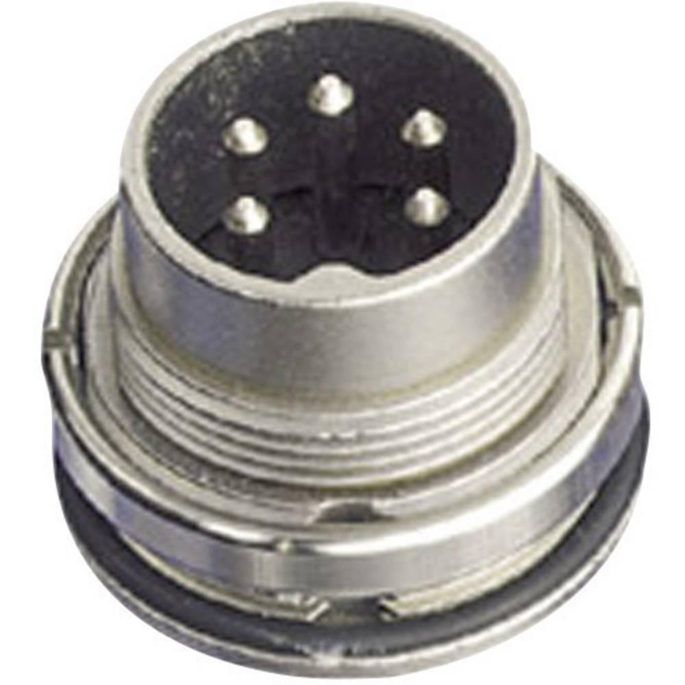 Okrogli konektor Amphenol serije C091/D, C091 31W006 100 2,nazivni tok: 5 A, poli: 6 DIN