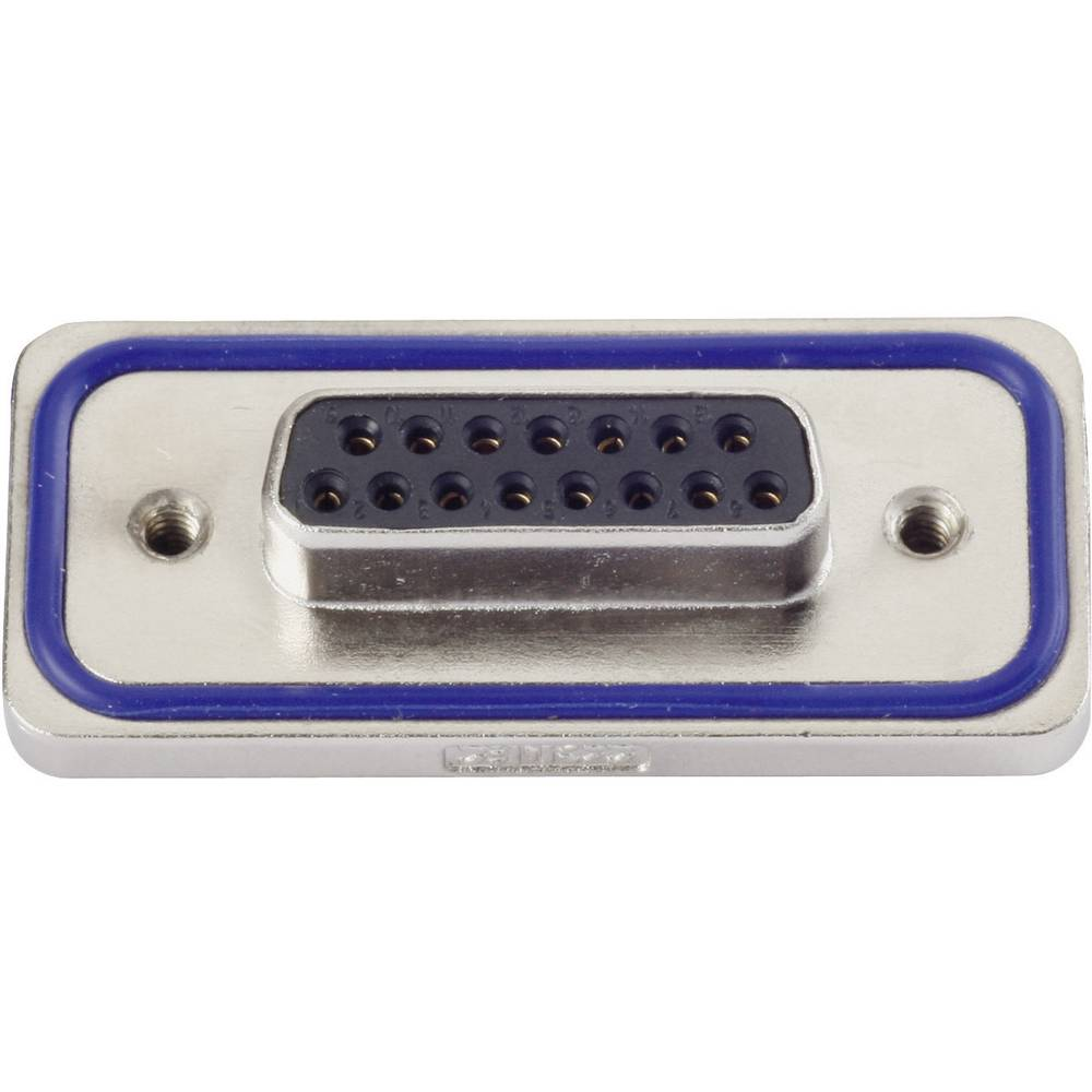 D-SUB konektor s spajkalnim nastavkom Conec 15-000633, poli: 25, vsebina: 1 kos