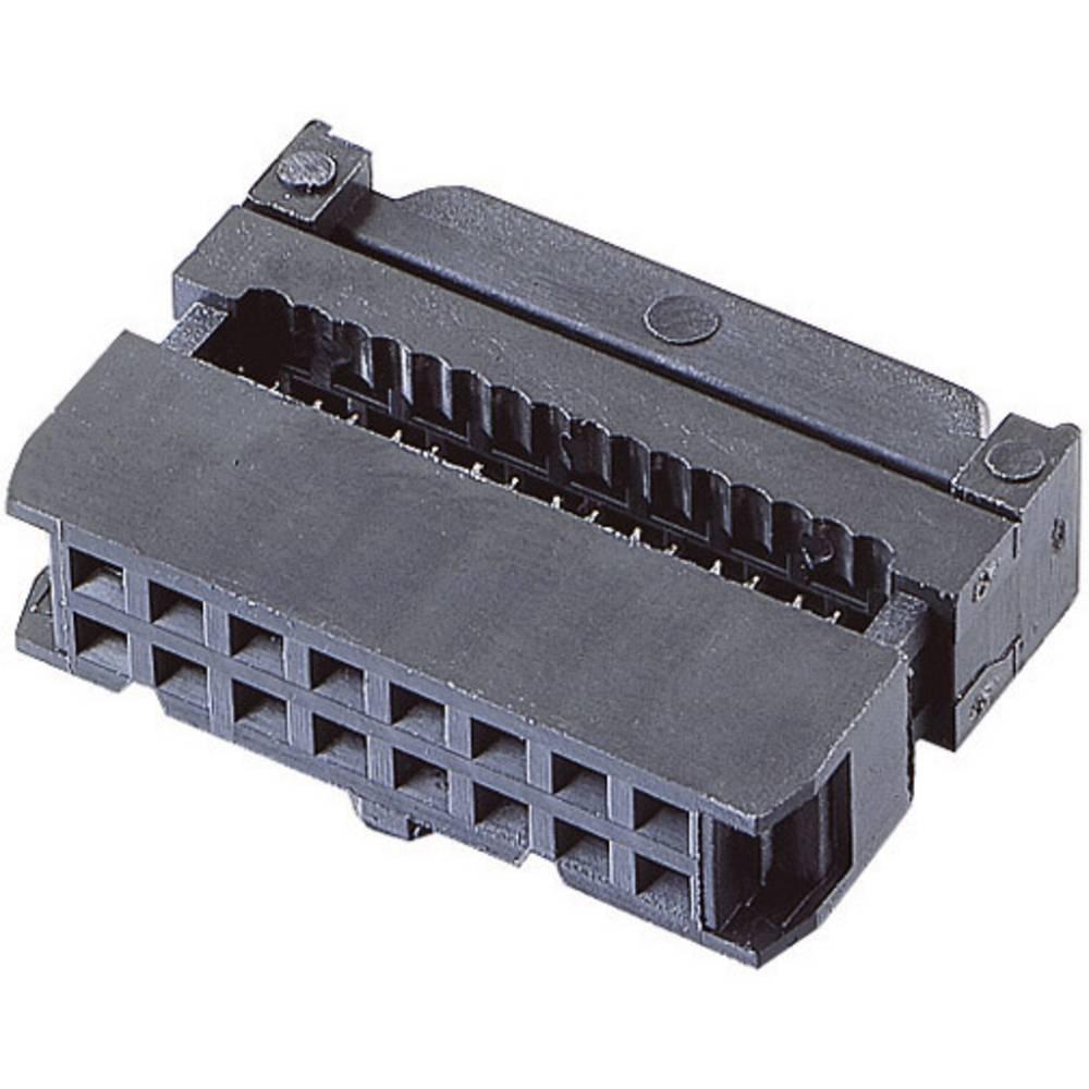 Pole-stikforbindelse med trækaflastning Rastermål: 2.54 mm Samlet antal poler: 50 BKL Electronic 1 stk