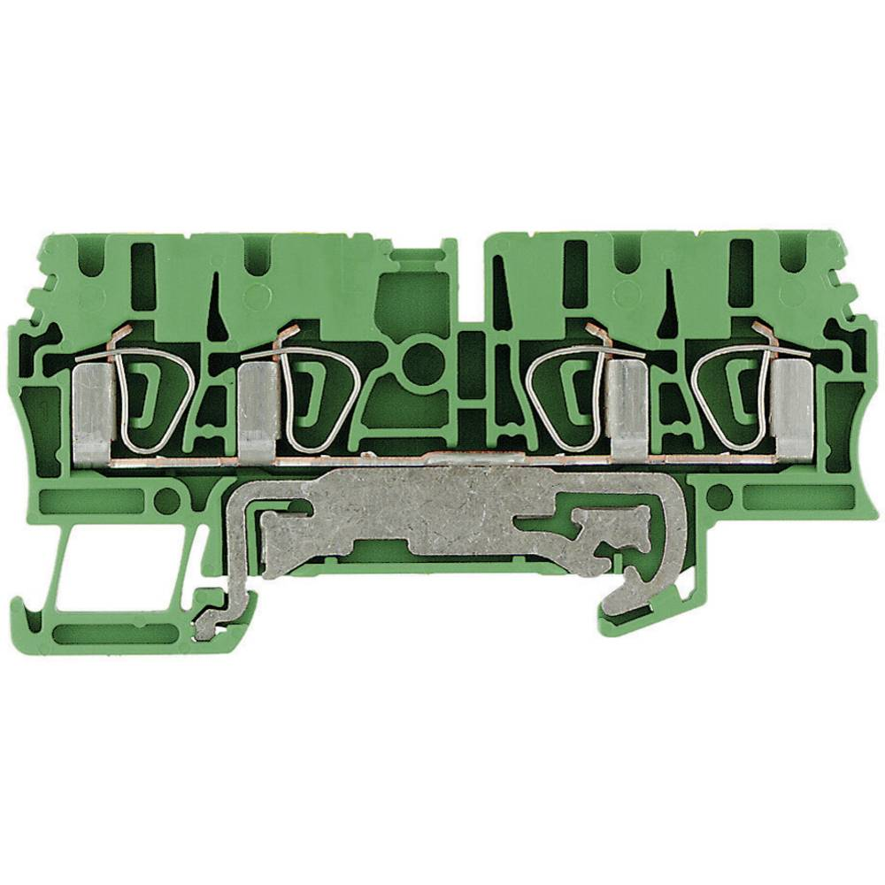 Beskyttelsesleder terminaler ZPE Weidmüller ZPE 2.5/4AN 1608660000 Grøn-gul 1 stk