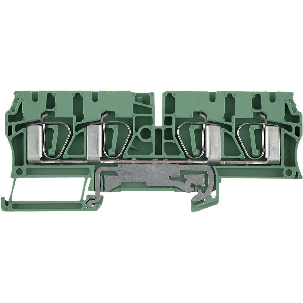Beskyttelsesleder terminaler ZPE Weidmüller ZPE 4/4AN 7904280000 Grøn-gul 1 stk