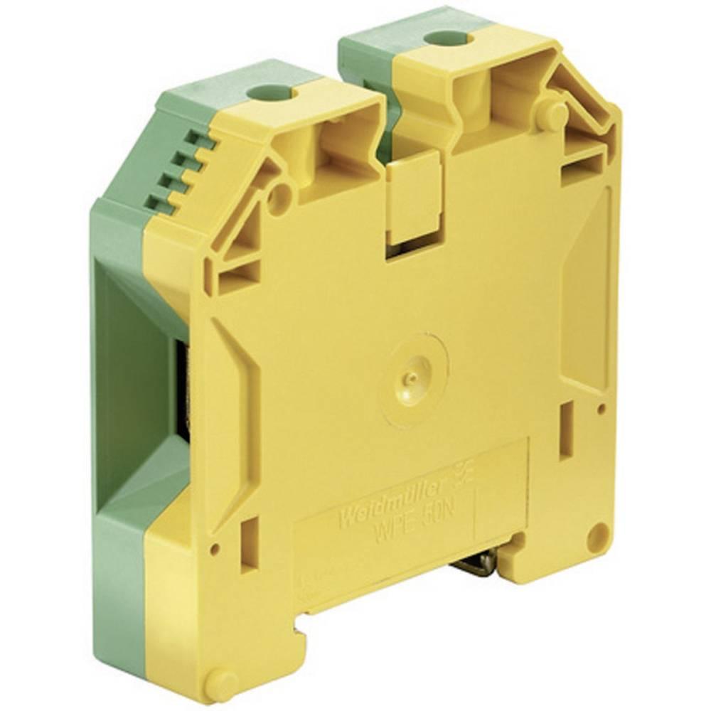 Beskyttelsesleder terminaler WPE Weidmüller WPE 50N 1846040000 Grøn-gul 1 stk