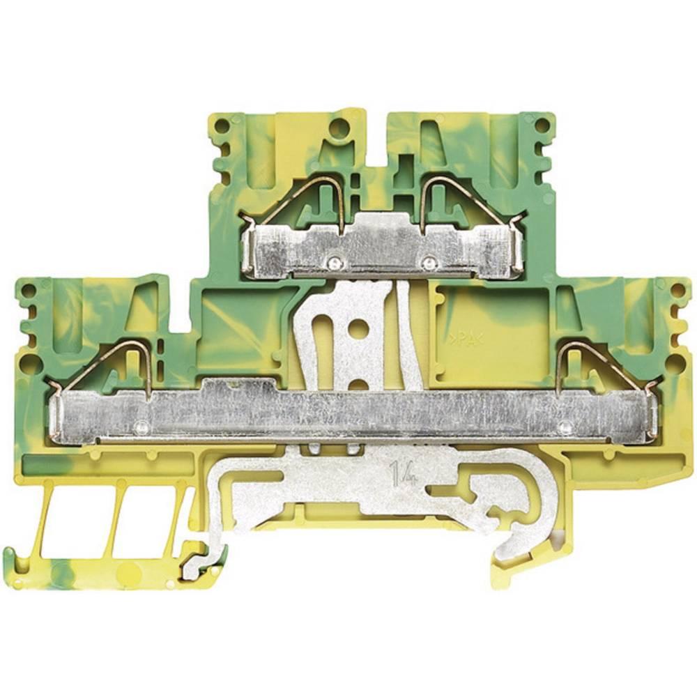 Dobbelt-dæk rækkeklemmer PDK Weidmüller PDK 2.5/4 PE 1918710000 Grøn-gul 1 stk
