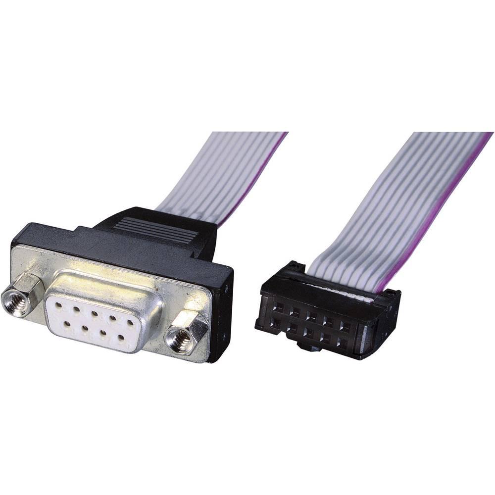 Serijski, paralelni priključni kabel [1x VGA utikač - 1x utikač 16pol.] 0.26 m sivi