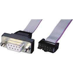 Serijski, paralelni priključni kabel [1x D-SUB-utičnica 9-pol. - 1x utična letva 10-pol.] 0.26 m sivi Renkforce