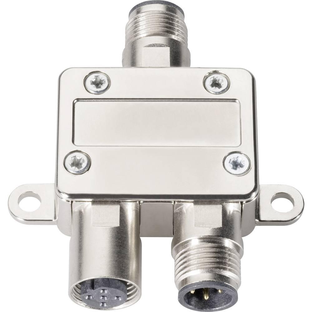 M12 razdelilnik v obliki črkeTin Y Provertha 42-100008, adapter, vsebina: 1 kos