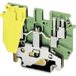 Dvostruka stezaljka UDK 4-PE Phoenix Contact zeleno-žute boje, sadržaj: 1 kom.