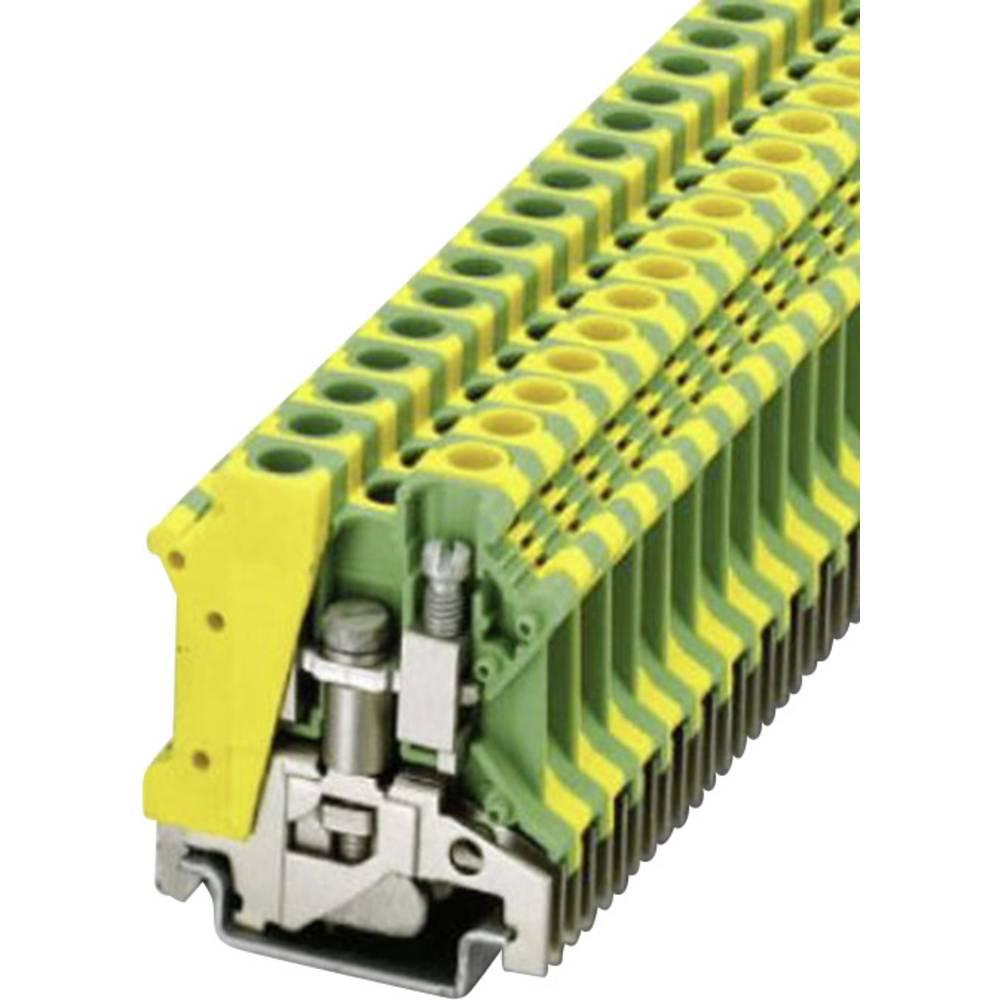 PE beskyttelsesleder terminal Phoenix Contact USLKG 6 N Grøn-gul 1 stk
