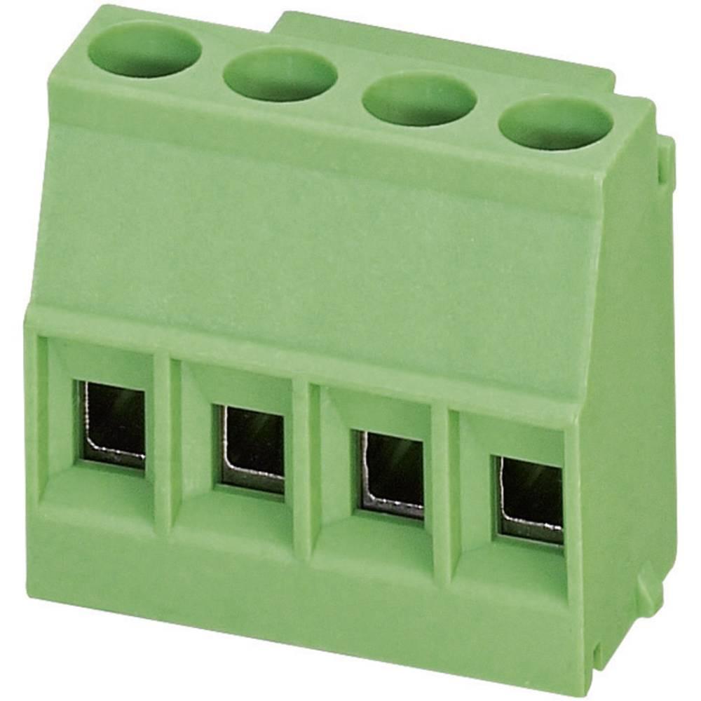 Skrueklemmeblok Phoenix Contact MKDS 1,5/ 4 1.50 mm² Poltal 4 Grøn 1 stk