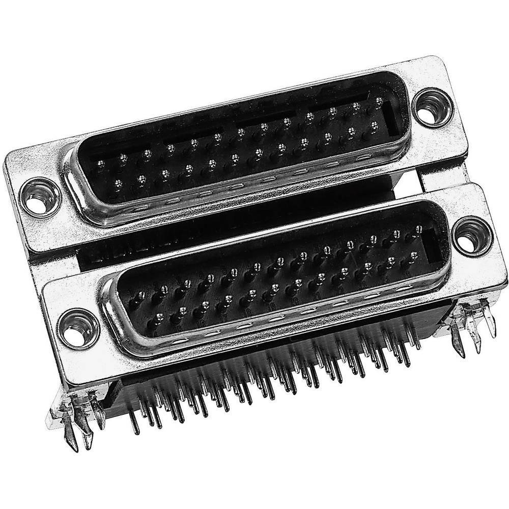 Dvonivojski D-SUB konektor Provertha DP09S09PR4B, poli: 9, kotni ž./m. konektor, 1 kos