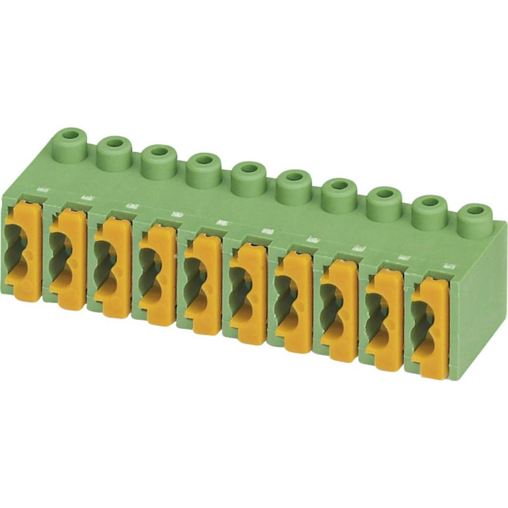 Fjederkraftsklemmeblok Phoenix Contact FK-MPT 0,5/ 5-ST-3,5 Poltal 5 Grøn 1 stk