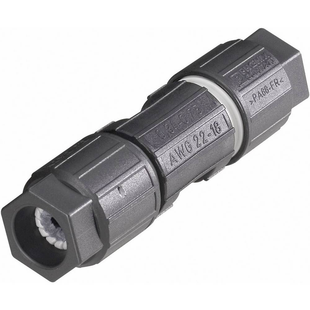 Kabelski konektor QUICKON-ONEQ1,5/4IDC/24-24KU-KU BK ČrnaPhoenix Contact 1642153