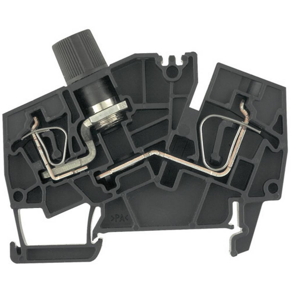 Fuse klemrækker - ZSI sort G20 Weidmüller ZSI 6-2 2X2.5/G20 1820930000 Sort 1 stk