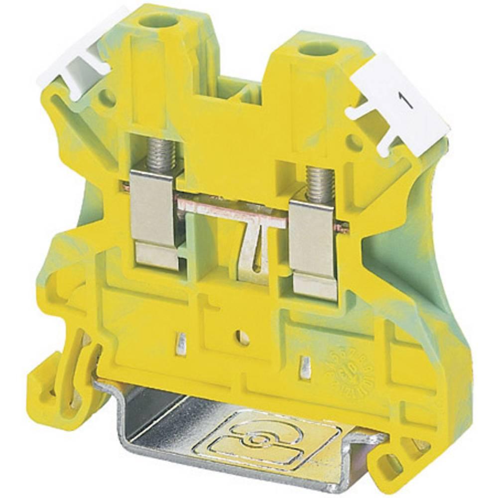 Universal-beskyttelseslederklemme PE Phoenix Contact UT 4-PE Grøn-gul 1 stk