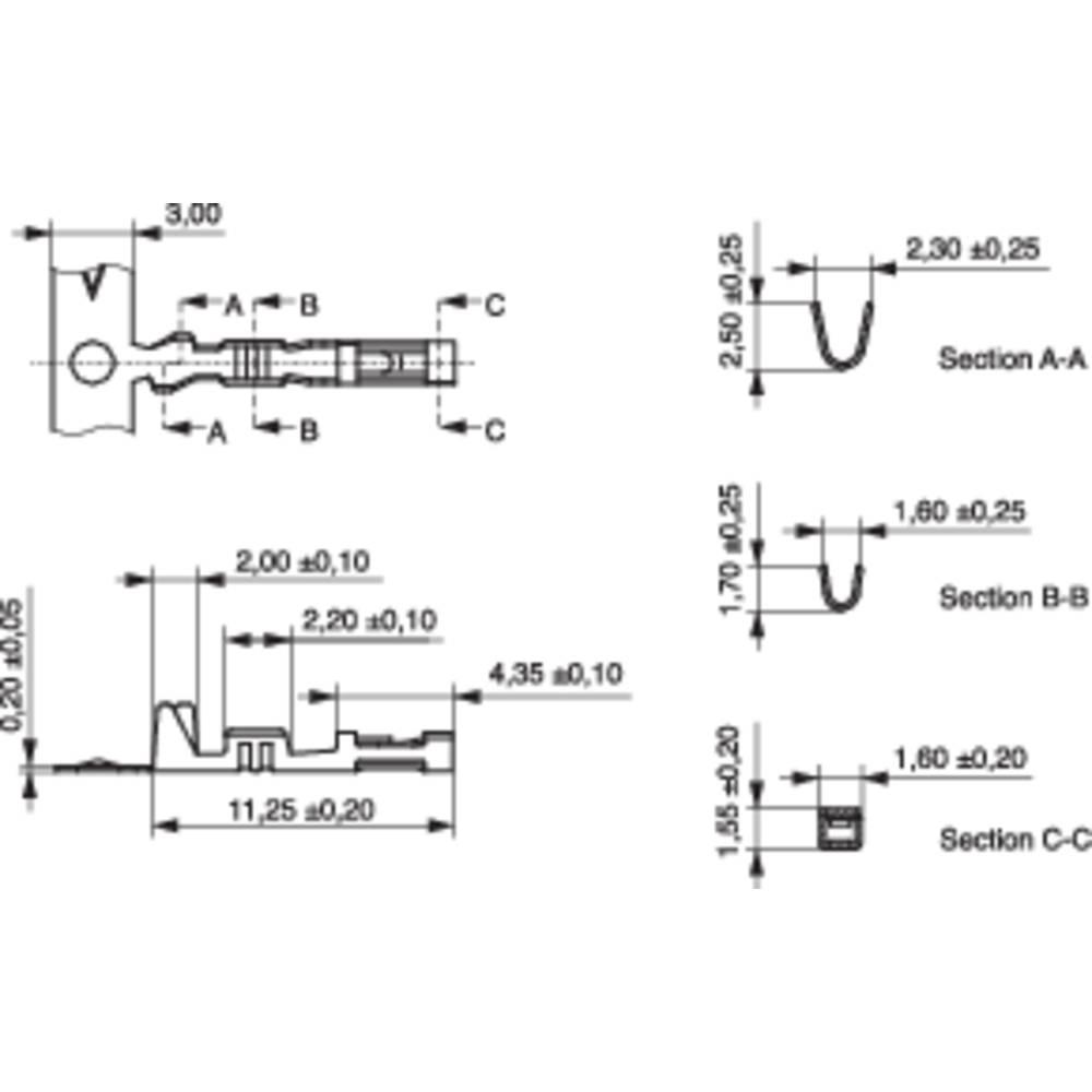 Bøsningskontakt CC Samlet antal poler 1 MPE Garry 607-1-TX-XR Rastermål: 2.54 mm 10000 stk