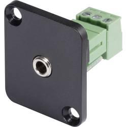 D-prirobnica, vgradna vtičnica3,5 mm, št. polov=3/Stereo HI-J35SEFD-S Hicon..