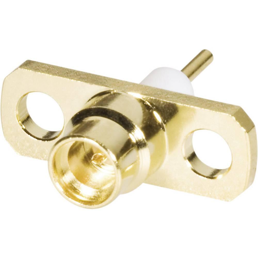 MMCX mini ženski konektor v ohišju, raven, vgraden, za spajkanje, pozlačena medenina 416700 BKL Electronic