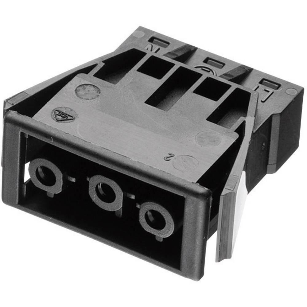 Vgradni ženski konektor Adels-Contact serije AC 166 G, 250 V, (pri +70 °C) 16 A, črn 168863