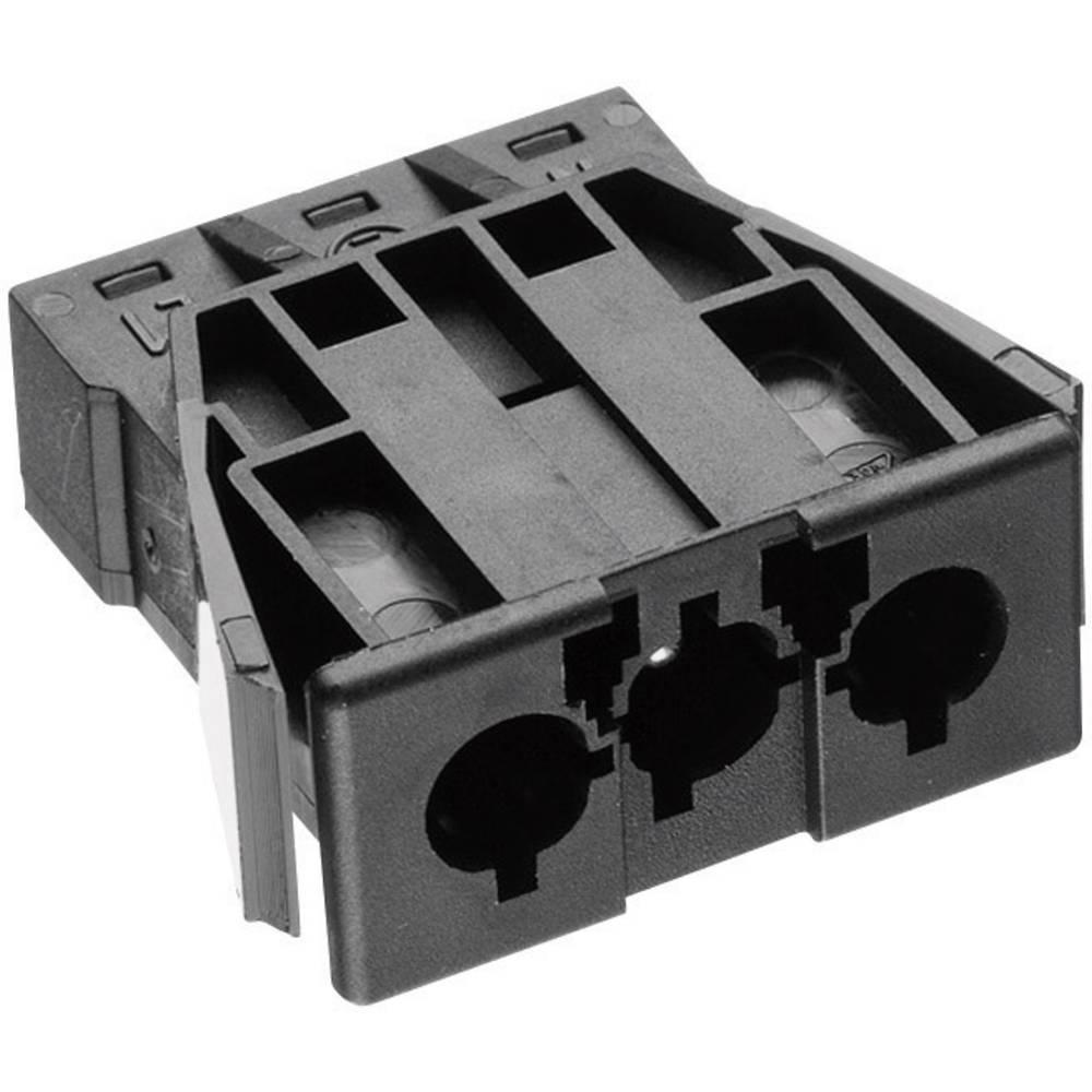 Strømstik Serie (netstik) AC Tilslutning, indbygning lodret Samlet poltal: 2 + PE 16 A Sort Adels-Contact AC 166 GEST/ 3 1 stk
