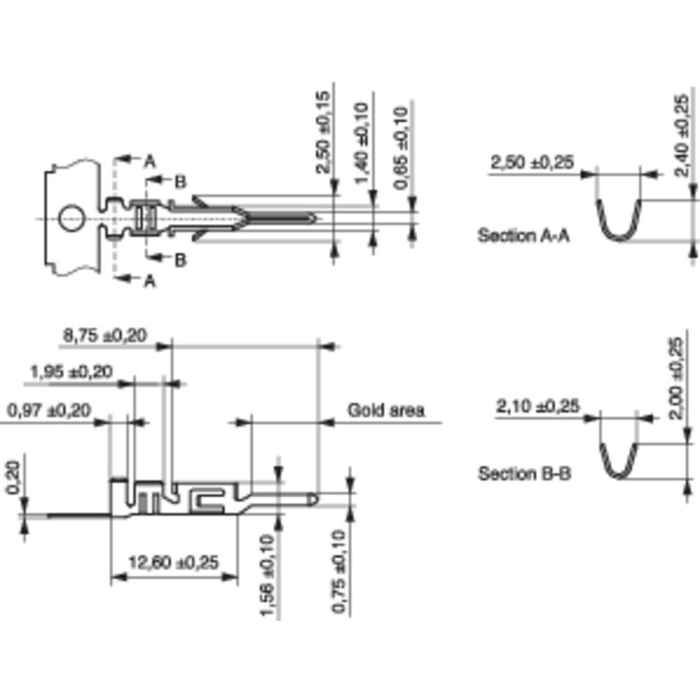 Stiftkontakt BLC (value.1360591) Samlet antal poler 1 MPE Garry 605-1-TX-XR Rastermål: 3 mm 10000 stk