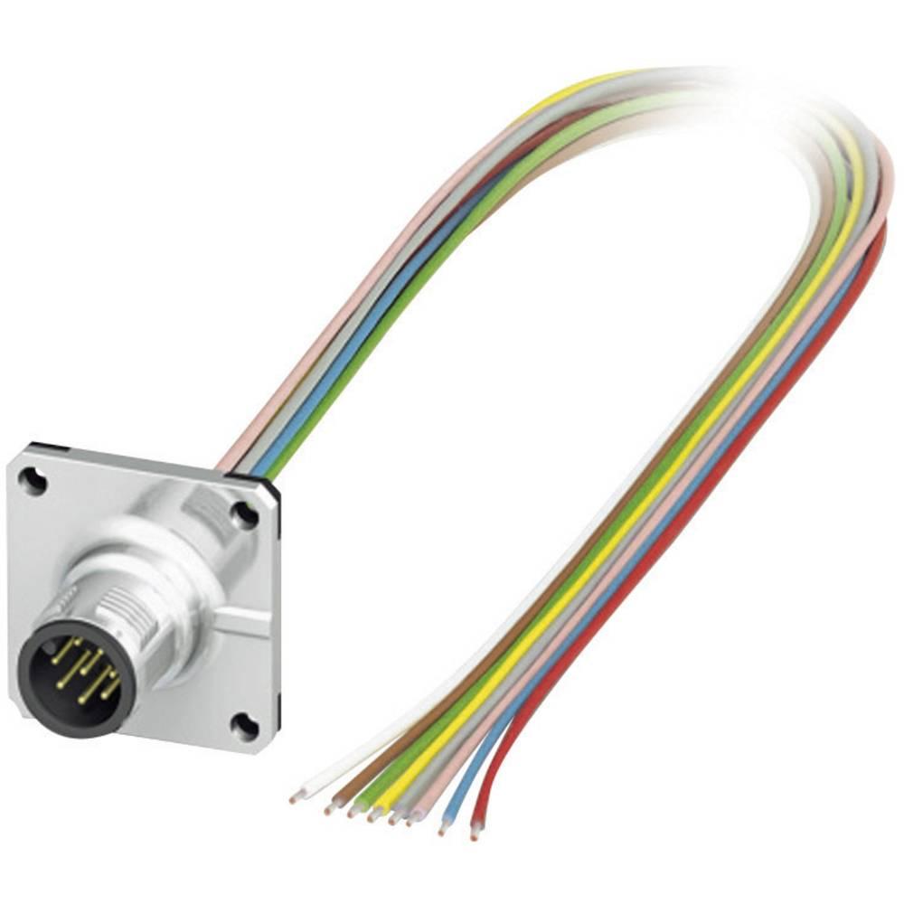 M12 Senzorsko-aktuatorski vgradni konektor št.polov: 8 SACC-SQ-M12MS-8CON-25F/0,5 Phoenix Contact vsebina: 1 kos