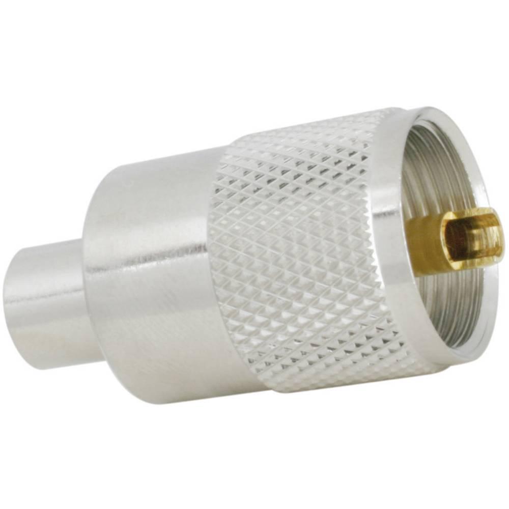 UHF vtič za vtični konektor SSB Aircell 7, raven, ponikljana medenina, različica za spajkanje 7390