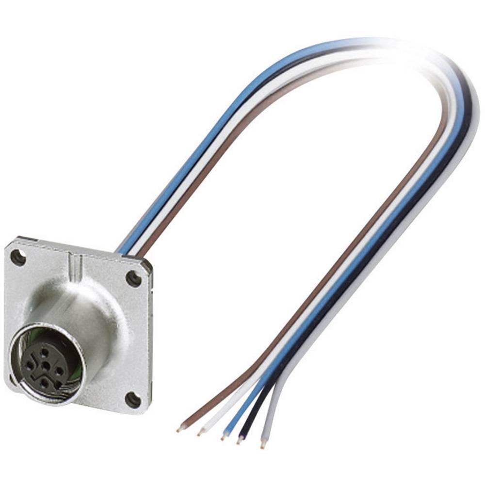 M12 Senzorsko-aktuatorski vgradni konektor št.polov: 5 SACC-SQ-M12FS-5CON-25F/0,5 Phoenix Contact vsebina: 1 kos