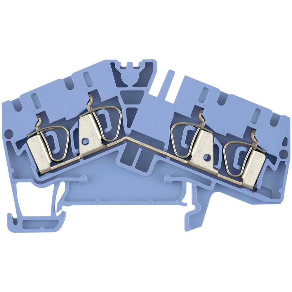 Feed-through terminaler ZDU ...- 2 blå Weidmüller ZDU 2.5-2/4AN BL 1706070000 Atolblå 1 stk