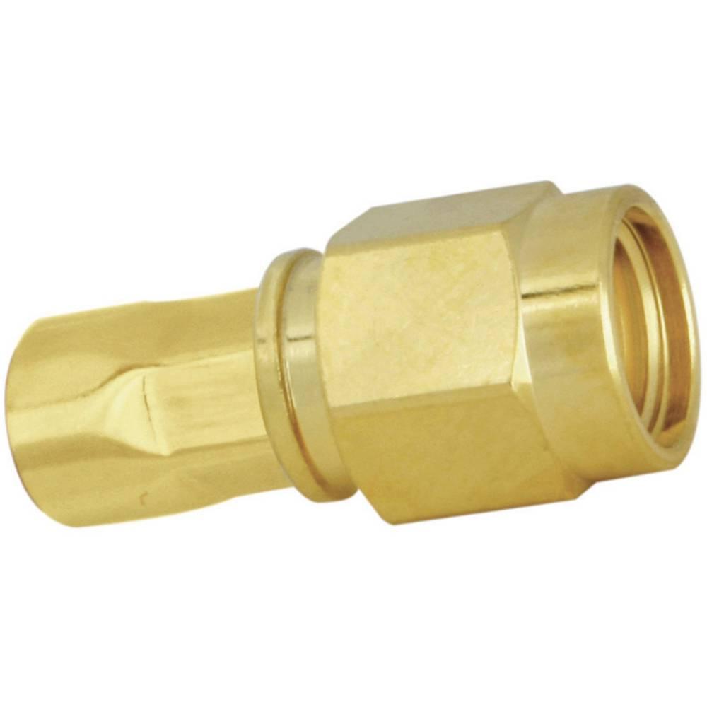 SMA moški konektor SSB Aircell 5, raven, pozlačena medenina, za stiskanje, vsebina: 1 kos 7750