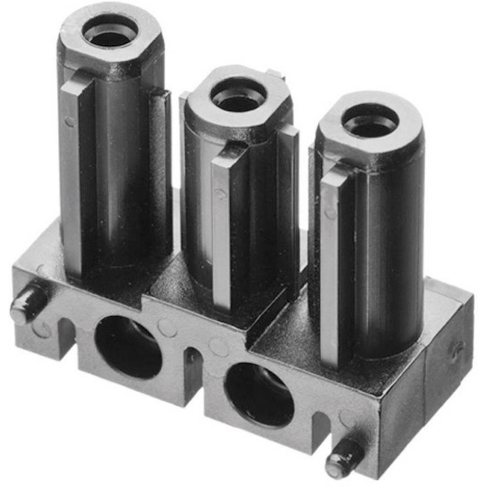 Mrežni konektor AC 166 GBULV/ 3 Adels-Contact ravni, broj polova: 3 16 A crna 1 komad