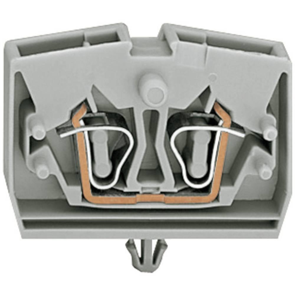 Enkelt klemme 6 mm Trækfjeder Belægning: L Grå WAGO 264-311 1 stk