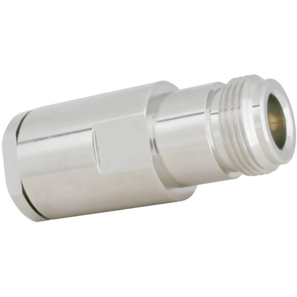N-Vtični konektor, ravna vtičnica, navojni priklop, medenina, ponikljan, Ecoflex10/Airco.. 7364 SSB