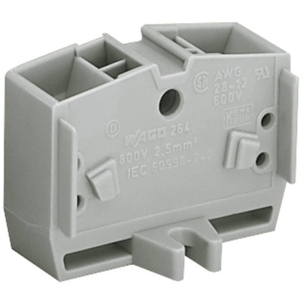 Enkelt klemme 10 mm Trækfjeder Belægning: L Grå WAGO 264-331 1 stk