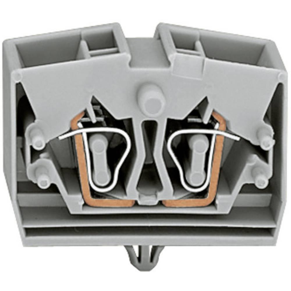 Enkelt klemme 10 mm Trækfjeder Belægning: L Grå WAGO 264-341 1 stk
