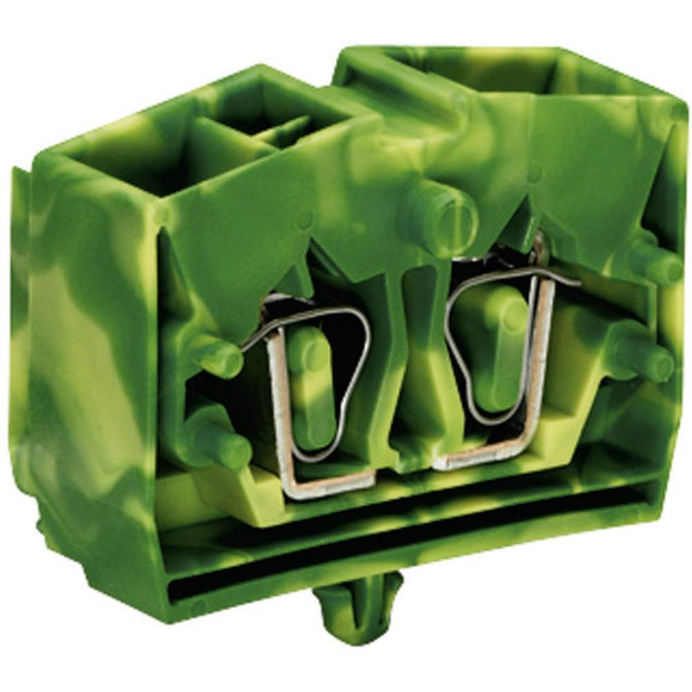 Enkelt klemme 10 mm Trækfjeder Belægning: Terre Grøn-gul WAGO 264-347 1 stk