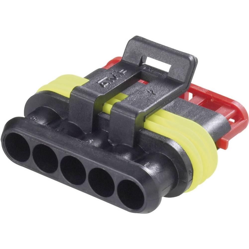 Tilslutningskabinet-kabel AMP-Superseal 1.5mm Series (value.1360566) Samlet antal poler 5 TE Connectivity 282089-1 Rastermål: 6