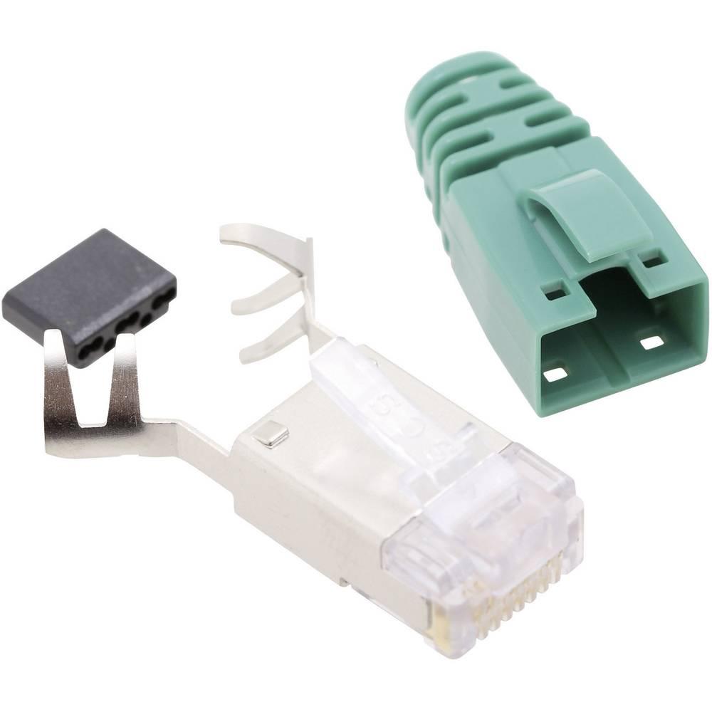 RJ45 vtični konektor, CAT 6 vtič, raven, polov:8P8C SS39GNE zelene barve BEL Stewart Connectors SS39GNE 1 kos