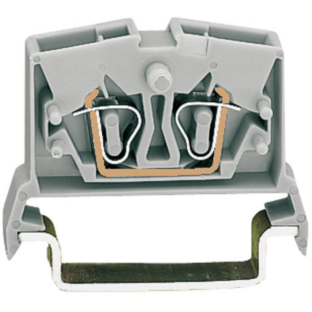 WAGO 264-711 Mini Through/earth Conductor Terminals Series 264 0.08 - 2.5 mm² Grey