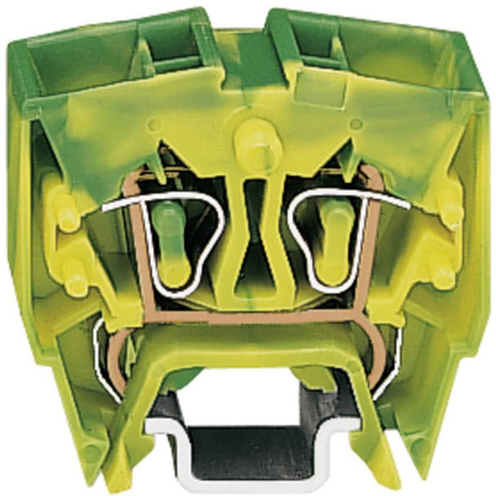Jordklemme 10 mm Trækfjeder Belægning: Terre Grøn-gul WAGO 264-727 1 stk
