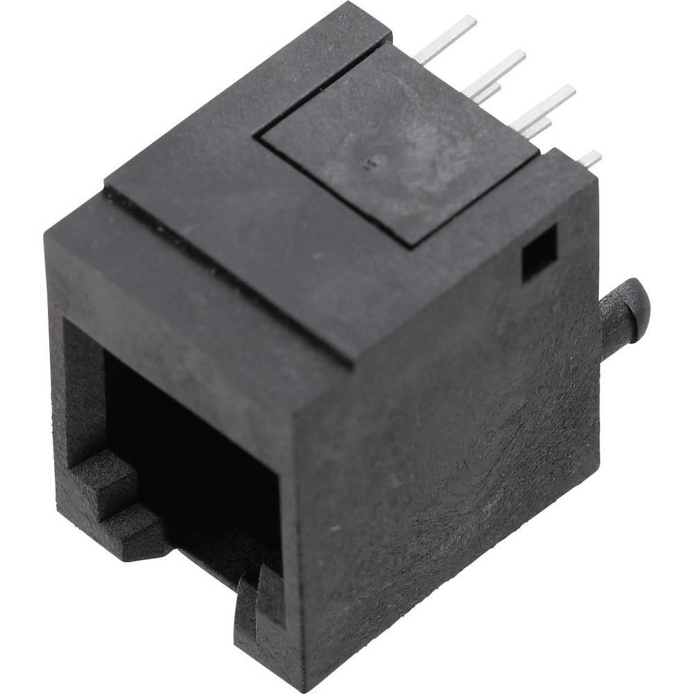 Modularna vgradna vtičnica, ravna, polov:6P6C 1410-4000-07 črne barve BEL Stewart Connectors 1410-4000-07 1 kos